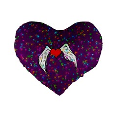 Your Heart Has Wings so Fly - Updated 16  Premium Heart Shape Cushion