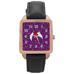 Your Heart Has Wings So Fly   Updated Rose Gold Leather Watch