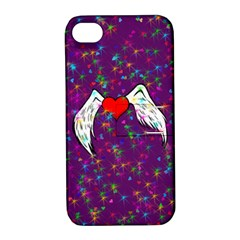 Your Heart Has Wings so Fly - Updated Apple iPhone 4/4S Hardshell Case with Stand