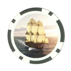French Warship Poker Chip