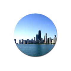 Chicago Skyline Magnet 3  (Round)