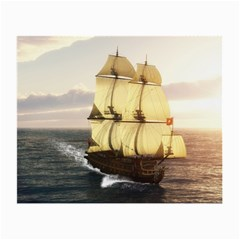 French Warship Glasses Cloth (small, Two Sided)