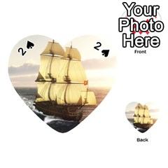 French Warship Playing Cards 54 Designs (heart)