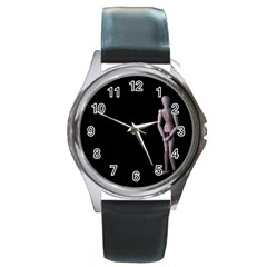I Have To Go Round Metal Watch (silver Rim)