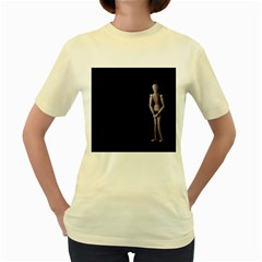 I Have To Go  Womens  T-shirt (Yellow)