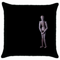 I Have To Go Black Throw Pillow Case