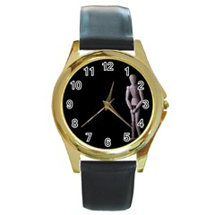 I Have To Go Round Metal Watch (Gold Rim)