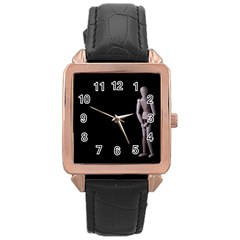 I Have To Go Rose Gold Leather Watch
