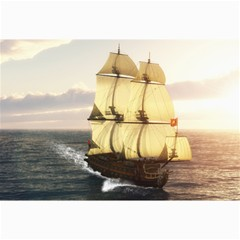French Warship Canvas 24  x 36  (Unframed)