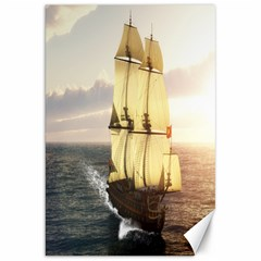 French Warship Canvas 20  X 30  (unframed)