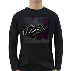 Butterfly 059 001 Mens' Long Sleeve T Shirt (dark Colored)