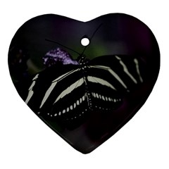 Butterfly 059 001 Heart Ornament (Two Sides)