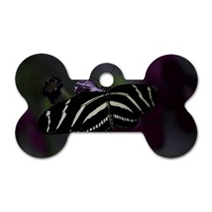 Butterfly 059 001 Dog Tag Bone (one Sided)