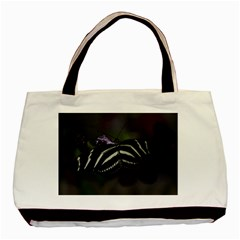 Butterfly 059 001 Twin Sided Black Tote Bag