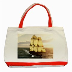 French Warship Classic Tote Bag (Red)