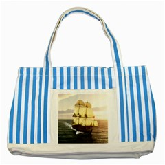 French Warship Blue Striped Tote Bag