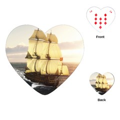 French Warship Playing Cards Single Design (Heart)