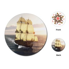 French Warship Playing Cards Single Design (Round)