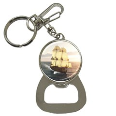 French Warship Bottle Opener Key Chain