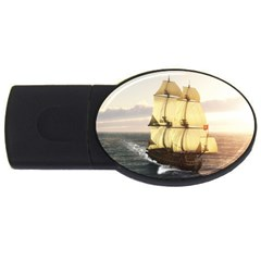 French Warship 2gb Usb Flash Drive (oval)