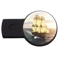 French Warship 2GB USB Flash Drive (Round)