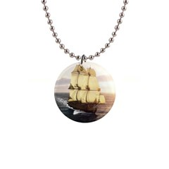French Warship Button Necklace