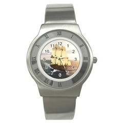 French Warship Stainless Steel Watch (Unisex)