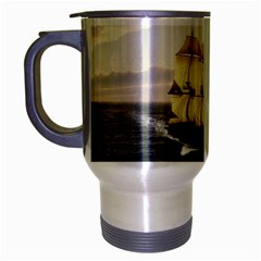 French Warship Travel Mug (Silver Gray)