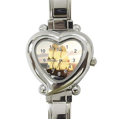 French Warship Heart Italian Charm Watch