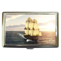 French Warship Cigarette Money Case