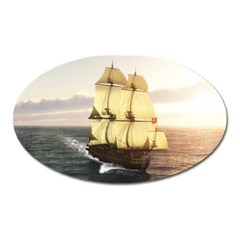 French Warship Magnet (Oval)