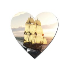 French Warship Magnet (Heart)