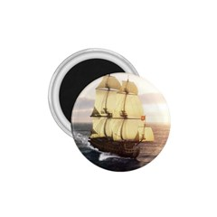 French Warship 1.75  Button Magnet