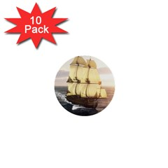 French Warship 1  Mini Button (10 pack)