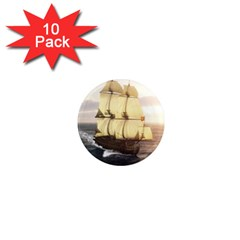 French Warship 1  Mini Button Magnet (10 pack)