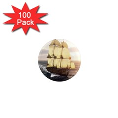 French Warship 1  Mini Button Magnet (100 pack)