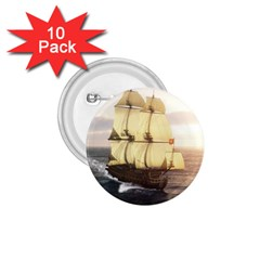 French Warship 1 75  Button (10 Pack)