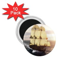 French Warship 1.75  Button Magnet (10 pack)