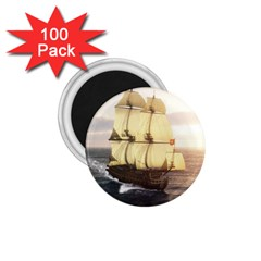 French Warship 1 75  Button Magnet (100 Pack)