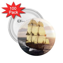 French Warship 2.25  Button (100 pack)