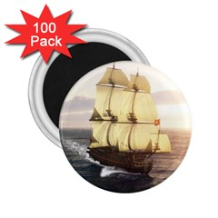 French Warship 2.25  Button Magnet (100 pack)