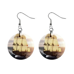 French Warship Mini Button Earrings
