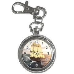 French Warship Key Chain & Watch