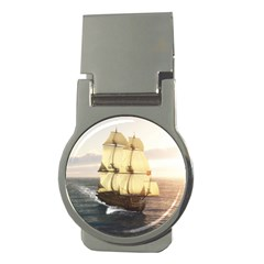 French Warship Money Clip (round)