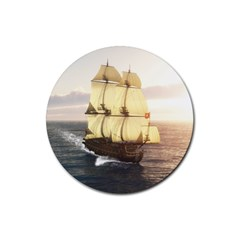French Warship Drink Coasters 4 Pack (Round)