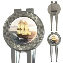 French Warship Golf Pitchfork & Ball Marker