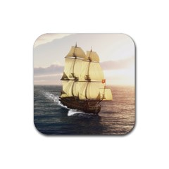 French Warship Drink Coaster (Square)