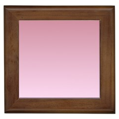 Puce To Pink Lace Gradient Framed Ceramic Tile