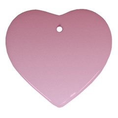 Puce To Pink Lace Gradient Heart Ornament