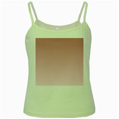 Puce To Pink Lace Gradient Green Spaghetti Tank